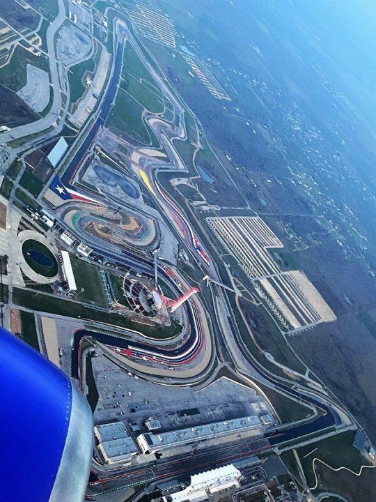 Luchtfoto van onderhoud baan COTA