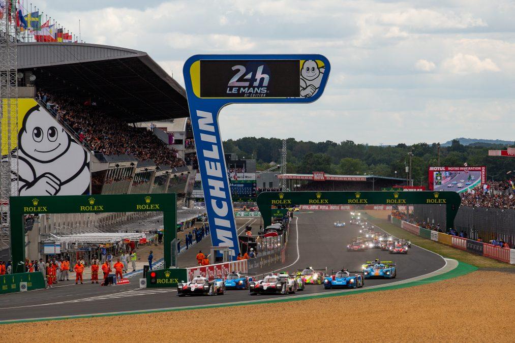 De start van Le Mans 2019