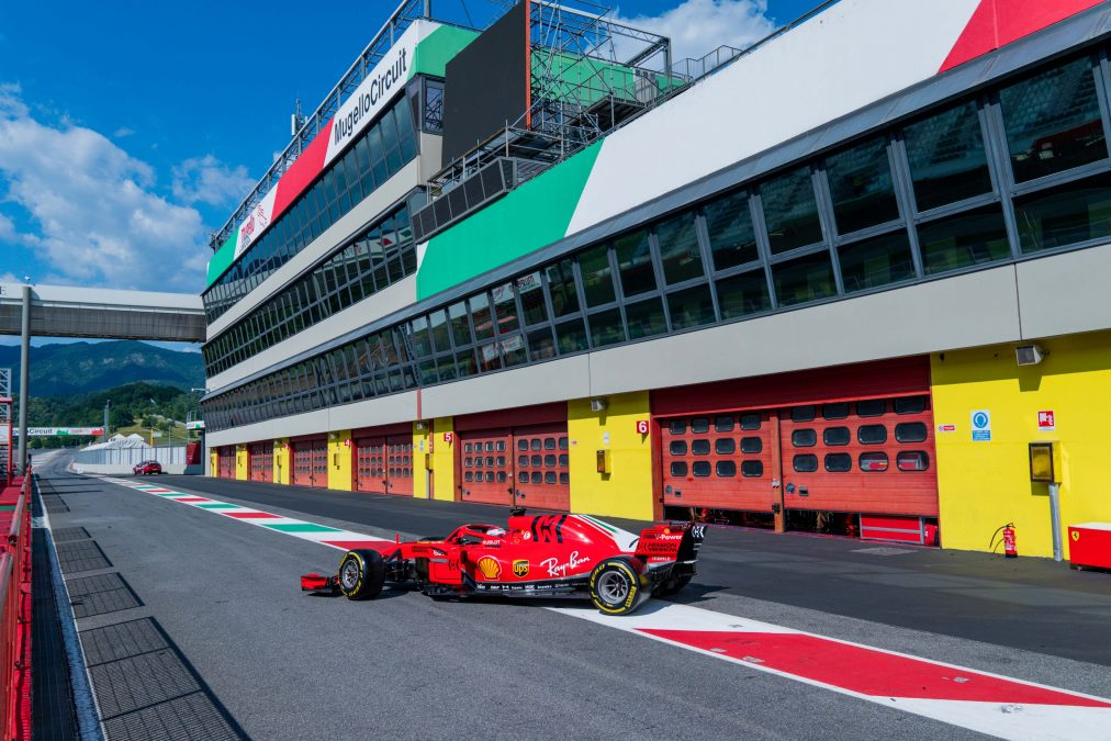 De 2018-Ferrari op Mugello