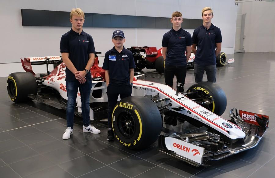 Coureurs uit de Sauber Driver Academy