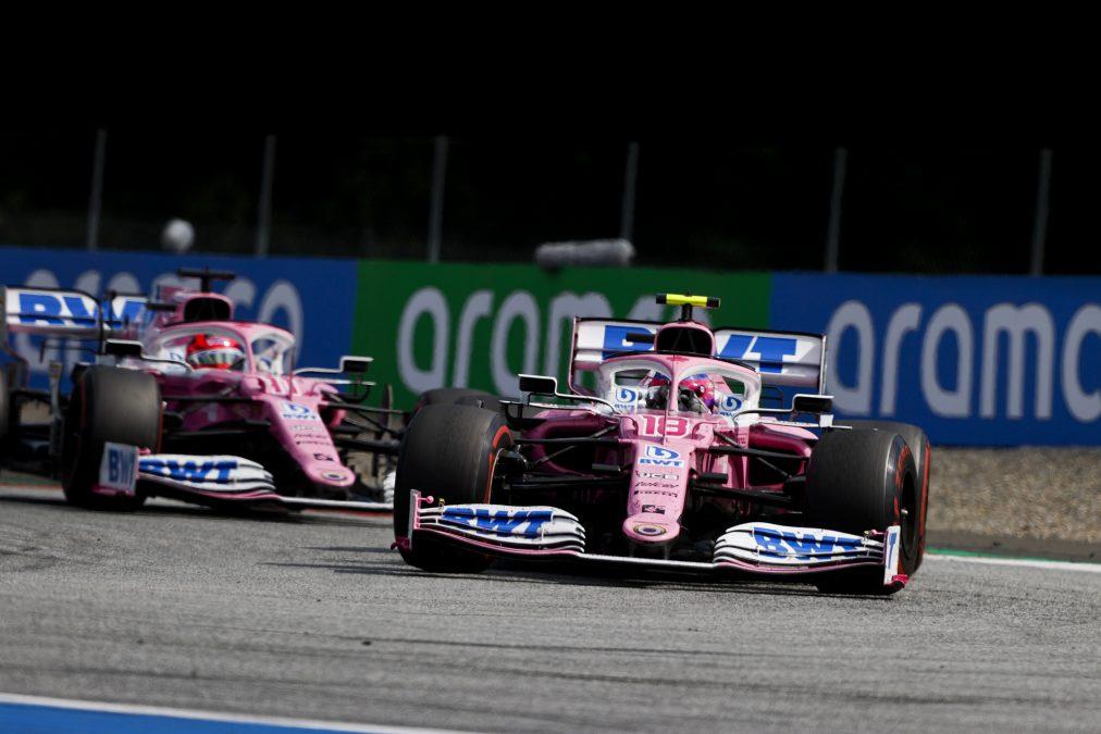 De Racing Point bolides in Oostenrijk