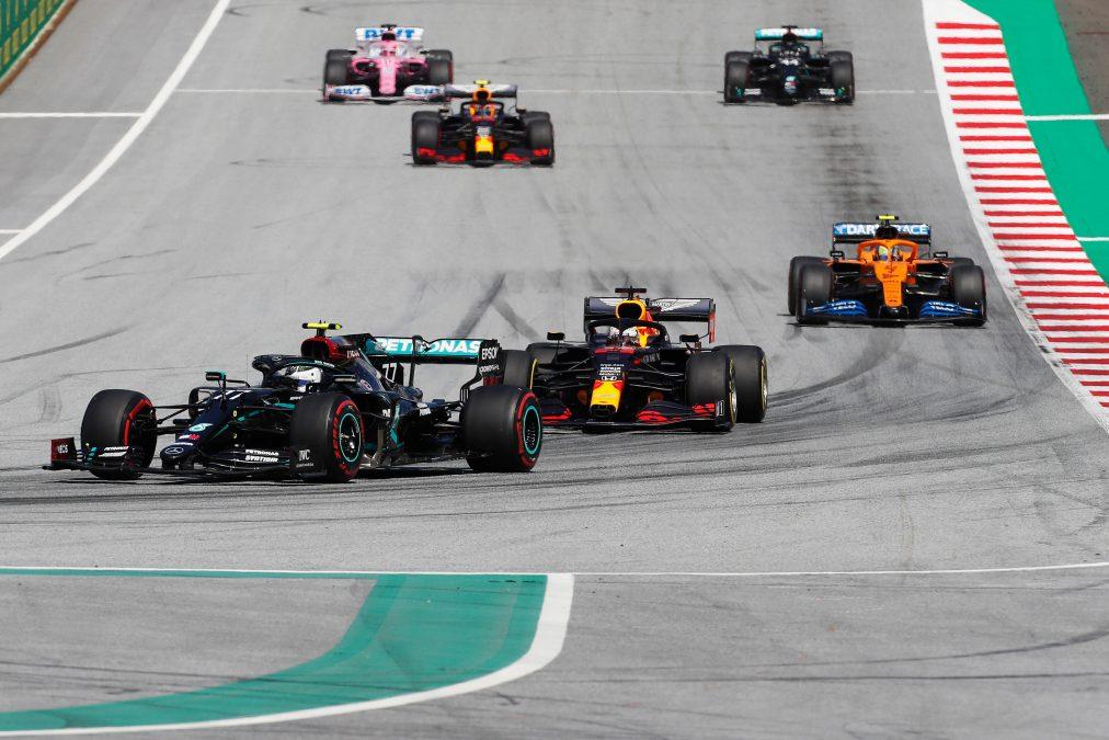 De Mercedes van Bottas op de Red Bull Ring