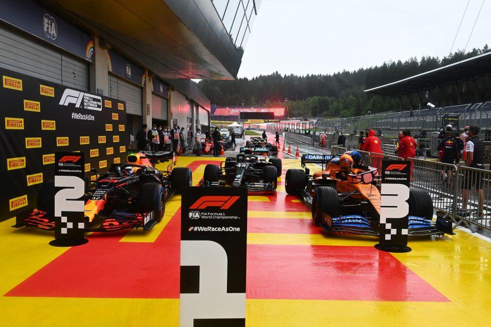 De drie snelst gekwalificeerde auto's