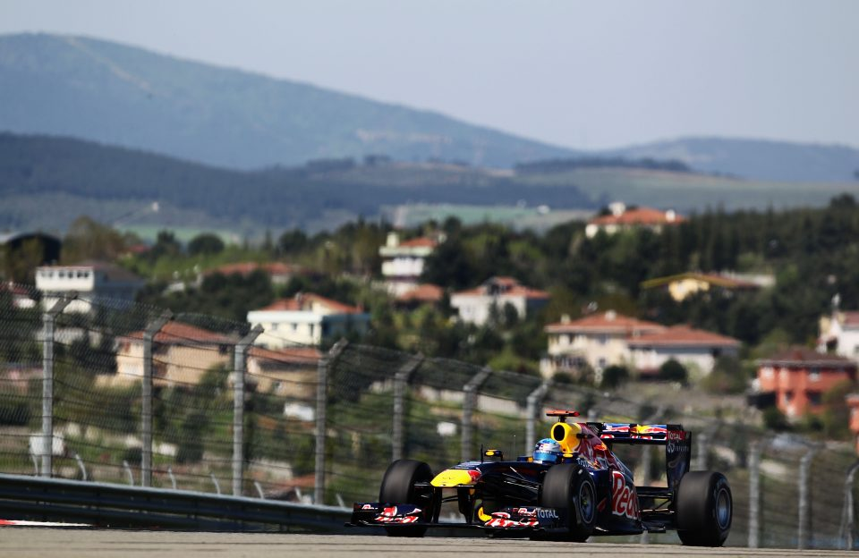 Sebastian Vettel in zijn Red Bull-tijd op Istanbul (Foto: Getty Images / Red Bull Content Pool)