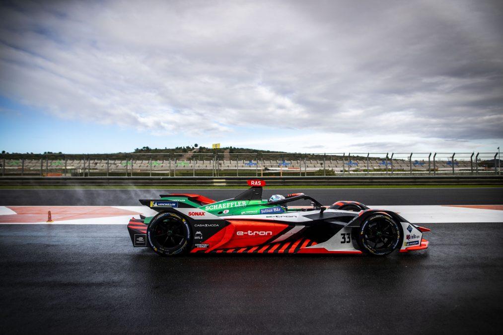 De Audi-bolide tijdens de pre-season test in Valencia afgelopen weekend (Foto: FIA Formula E)